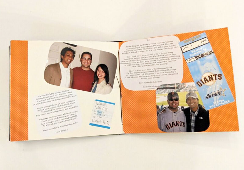 the scrapbook that inspired GroupGreeting founder Anthony Doctolero
